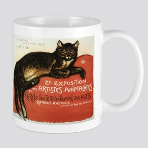 Cat, Steinlen, Vintage Poster Mug