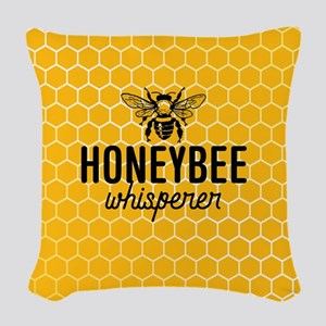 Honeybee Whisperer Woven Throw Pillow