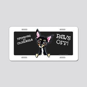 Chihuahua B/T PAWS OFF Aluminum License Plate