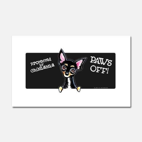 Chihuahua B/T PAWS OFF Car Magnet 20 x 12