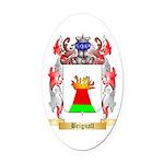 Brignall Oval Car Magnet