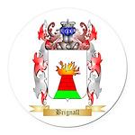 Brignall Round Car Magnet