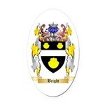 Bright Oval Car Magnet