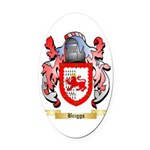 Briggs (London) Oval Car Magnet