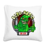 Ecto Radio mascott Square Canvas Pillow