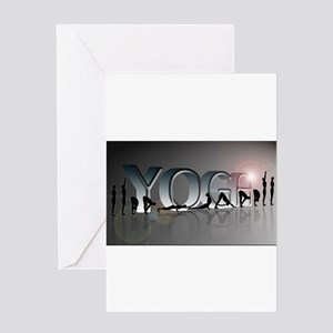 YOGA Bold Greeting Card