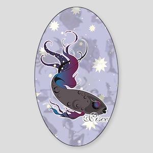 Starlight Pisces Sticker (Oval)