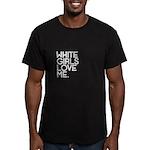White Girls - Men's Fitted T-Shirt (dark)