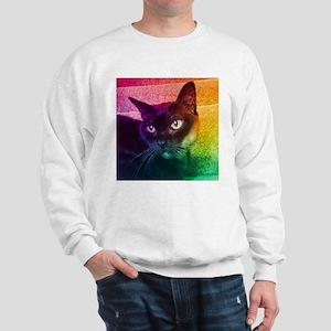 Burmese Cat Portrait B Sweatshirt