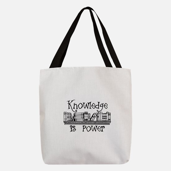 Knowledge is Power - Librarian Polyester Tote Bag