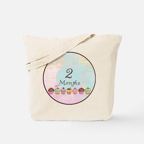 2 Months Cupcake Milestone Tote Bag