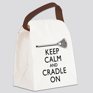 Keep Calm And Cradle On Canvas Lunch Bag