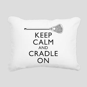 Keep Calm And Cradle On Rectangular Canvas Pillow