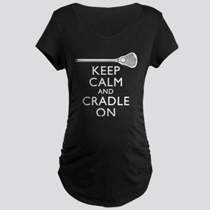 Keep Calm And Cradle On Maternity T-Shirt