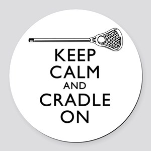 Keep Calm And Cradle On Round Car Magnet