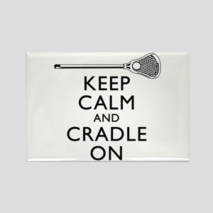 Keep Calm And Cradle On Rectangle Magnet