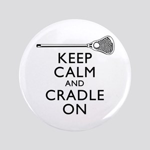 """Keep Calm And Cradle On 3.5"""" Button"""