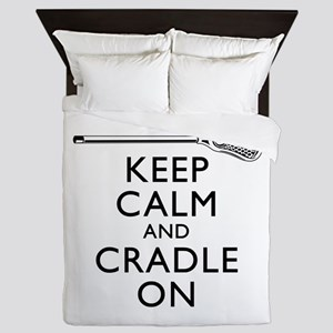 Keep Calm And Cradle On Queen Duvet