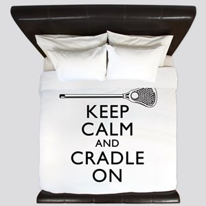 Keep Calm And Cradle On King Duvet