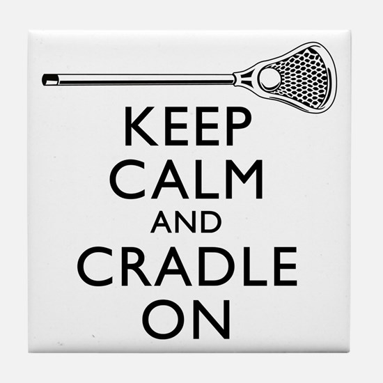 Keep Calm And Cradle On Tile Coaster