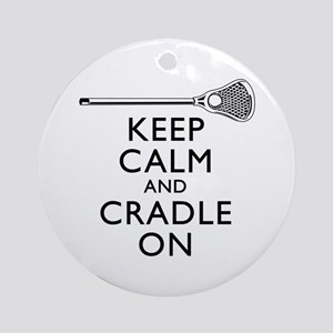 Keep Calm And Cradle On Ornament (Round)