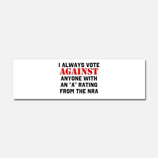 No NRA Car Magnet 10 x 3