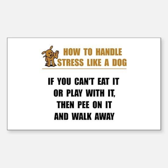 Stress Like Dog Decal