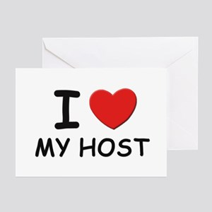 I love hosts Greeting Cards (Pk of 10)