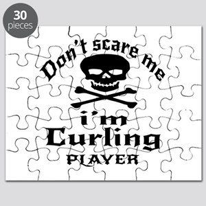 Do Not Scare Me I Am Curling Player Puzzle