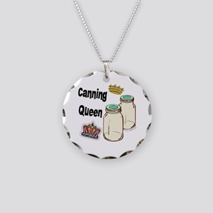Canning Queen Necklace Circle Charm
