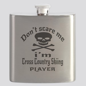 Do Not Scare Me I Am Cross Country Skiing Flask