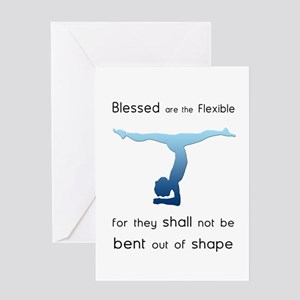 Blessed are the Flexible 2 Greeting Card