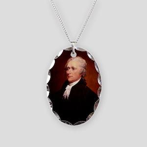 Alexander Hamilton Necklace Oval Charm