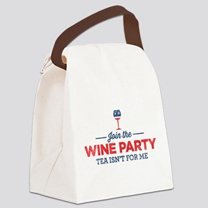 Wine Party Canvas Lunch Bag