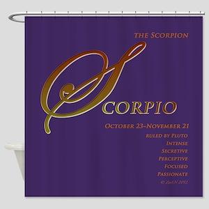 Scorpio Astrographix Shower Curtain