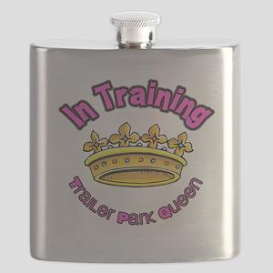 Trailer Park Queen In Training Flask