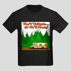 Don't Tailgate Or We'll Flush Kids Dark T-Shirt