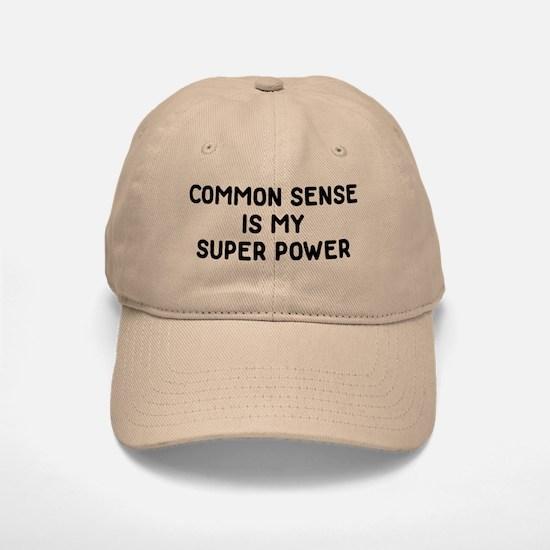 Common Sense Baseball Baseball Cap
