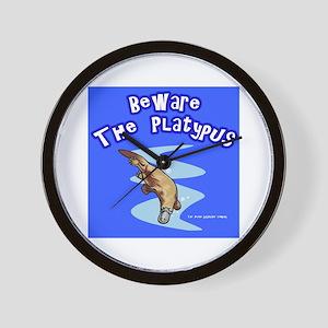 Beware The Platypus Wall Clock