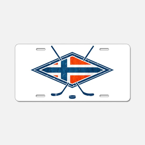 Norsk Ishockey Flag Aluminum License Plate