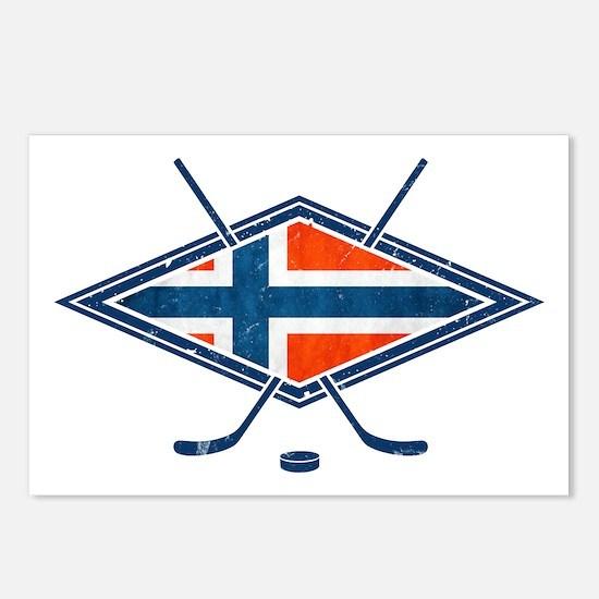 Norsk Ishockey Flag Postcards (Package of 8)