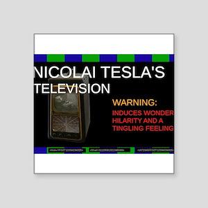 Nicolai Tesla's television Sticker