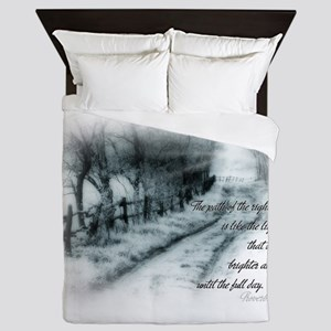 the path of the righteous Queen Duvet