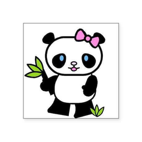Lil' Girl Panda Oval Sticker