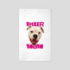 Boxer Mom dog 3'x5' Area Rug
