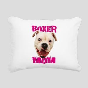 Boxer Mom dog Rectangular Canvas Pillow