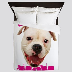 Boxer Mom dog Queen Duvet