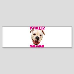 Boxer Mom dog Bumper Sticker