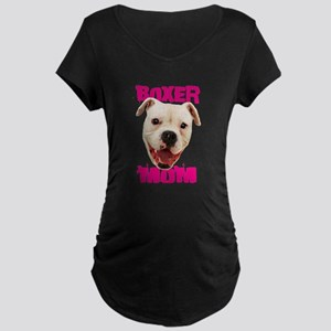 Boxer Mom dog Maternity T-Shirt