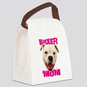 Boxer Mom dog Canvas Lunch Bag